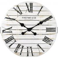 China Fancy wooden retro vintage large MDF rustic custom elderly farmhouse decoration Rustic Country Style wall clock on sale