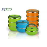 Wholesale Plastic Cover Stainless Steel Bento Box Colorful 700ml To 2800ml Unbreakable from china suppliers