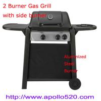 Quality 2 Burner Plus Side Burner Gas Barbecue for sale
