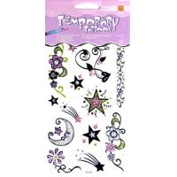 Wholesale ODM Body art Star Design washable large Glitter Temporary Tattoo for adults from china suppliers