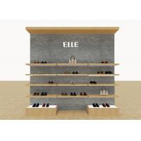 Wholesale Mix Version Men's Shoe Shop Display Stands Wooden Shelves With Custom LOGO from china suppliers