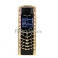 China Luxury Signature Diamonds Rose Gold Pink Sapphires Mobile Phone on sale