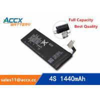 Wholesale ACCX brand new high quality li-polymer internal mobile phone battery for IPhone 4S with high capacity of 1450mAh 3.7V from china suppliers