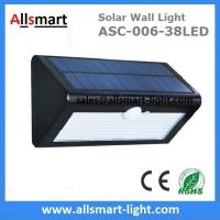 3 Lighting Mode 38LED Solar Wall Light For Garden China Manufacturer