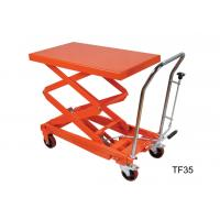 Wholesale Four Wheel Heavy Duty Hydraulic Lift Table Platform For Warehouse Material Carrying from china suppliers