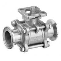 Wholesale SS 3PC Clamp End Ball Valves with ISO5211 Mounting Pad , CF8M / CF8 / WCB Material from china suppliers