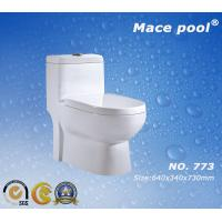 Wholesale Competitve Bathroom Ceramic One Piece Toilet Siphonic Flushing S-Trap  (773) from china suppliers