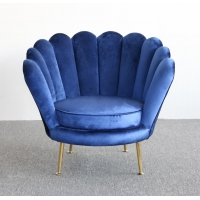 Wholesale Nordic Style Flower Shape 78cm Height Velvet Accent Armchair from china suppliers