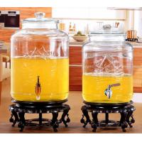 Wholesale 5L 8L Glass Storage Jars Stainless Steel Faucet For Orgnge Juice OEM Accepted from china suppliers