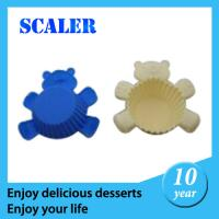China Silicone Bakeware Set  gel  Small cake pan silicone orange cake mould 10*10*3cm for baking on sale