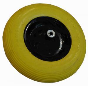 China long useful life excellent quality reasonable price flat free pu foam wheelbarrow wheel for sales on sale