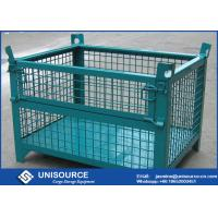Buy cheap Warehouse Stackable Foldable Metal Box Wire Mesh Container For Logistics from wholesalers