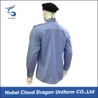 Buy cheap Custom Blue Security Shirt  With Comfortable 100% Cotton / Mens Long Sleeve Shirts from Wholesalers