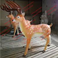 Wholesale special attraction elk sculptures statues of fiberglass nature painting as landscape from china suppliers