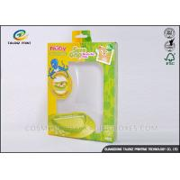 Wholesale Green / Yellow Foldable Gift Boxes Eco Friendly PVC Window For Children Bowl from china suppliers