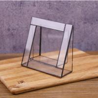 China Vertical Glass Photo Frame Glass Square Picture Display Frame on sale