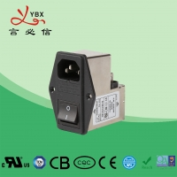 Wholesale IEC 60529 90 Degree Output 50Hz 250VDC Emi Emc Filter from china suppliers