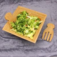 Wholesale Eco Friendly Totally Bamboo Salad Bowl Set With Matching Salad Servers from china suppliers