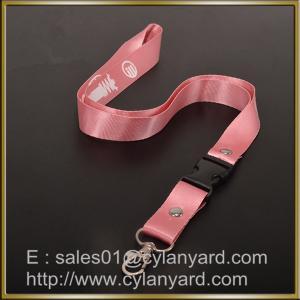 Wholesale Nylon Ribbon Lanyard factory China, custom printed nylon neck ribbon with rivet from china suppliers