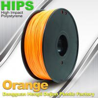 Wholesale Markerbot , Cubify  3D Printing Materials HIPS Filament 1.75mm / 3.0mm Orange Color from china suppliers