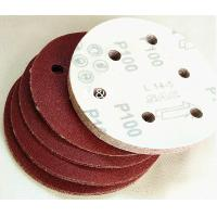 Wholesale Round Sand Coarse Medium Grit Sandpaper , 6 Holes Hook And Loop Sanding Disc from china suppliers