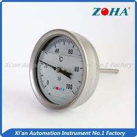 Wholesale SS Shock Resistance Bimetal Dial Thermometer For Measuring Vibrated Gas from china suppliers