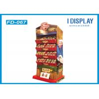 Buy cheap 4 Tiers Promotion Corrugated Cardboard Floor Displays 37*27*138 Cm from Wholesalers
