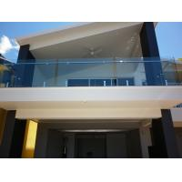 Buy cheap Balcony Transparent Tempered Railing Glass 12mm Thickness No holes from Wholesalers