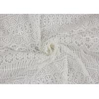 China Textile Milk Fiber Water Soluble Guipure Lace Fabric By The Yard Stretch Soft Feel on sale