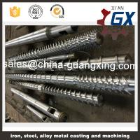 China bimetallic plastic extruder screw and barrel for pvc extruder and pipe extruder on sale