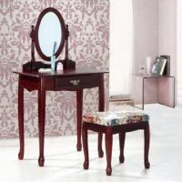 Wholesale Wooden Dressing Table, Made of MDF Paper Veneer + Hard Wood from china suppliers