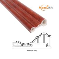 Wholesale wood grain pvc laminate flooring skirting from china suppliers