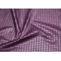 China Purple Suede Printed Leather Fabric , Ladies Garment Premium PU Leather on sale