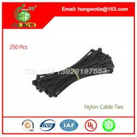 China 250PCS Plastic Self Locking Packaging Cable Zip Ties Fastener Strap 3.6mm x 370mm on sale