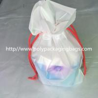 Wholesale Transparent PVC Vinyl Small Drawstring Pouch Bags Women'S Makeup Pouch from china suppliers