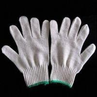 China Safety Gloves, Made of Cotton Yarn, Available in White on sale