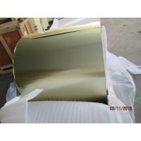 Wholesale Blue / Golden Coil Coated Aluminium , 0.105MM Coil Coated Aluminium Different Width from china suppliers