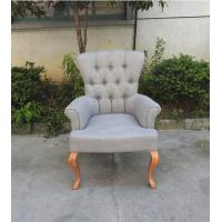 french style button tufted dining chairs, solid wood linen upholstered dining chair