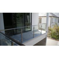 Wholesale Glass Railing/ Glass Balustrade with Stainless Steel Post for Balcony Design from china suppliers
