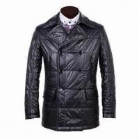 Wholesale Men's padded jacket in silk-like polyester filling, creative style, nice making, OEM orders welcome from china suppliers