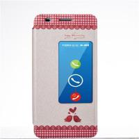 Wholesale PU Leather Case Huawei Honor 6 Cases and Covers with Stand and Window from china suppliers
