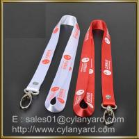 Red Nylon lanyard for ID badge holder