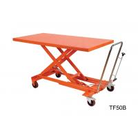 Wholesale Orange Mechanical Scissor Lift , Hydraulic Table Cart Trolley Scissor Lift from china suppliers