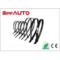 China Black Large Electrical Cable Ties , Pvc Coated Stainless Steel Heat Resistant Zip Ties on sale