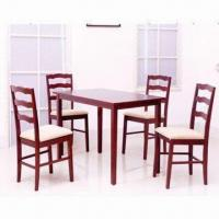 Wholesale 5-piece Dining Sets with Solid Wooden Frame Chair from china suppliers