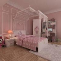 Wholesale E0 Grade Kids' Bedroom Furniture, Home Product, Wardrobe, Nightstand, HelloKitty, Wood, MDF from china suppliers