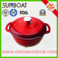 Wholesale hot sale red color cast iron cookware large capacity enamel dutch oven from china suppliers