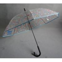 Wholesale Advertising Clear Transparent Umbrella with silkscreen print on the canopy from china suppliers