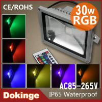 Wholesale USA Cree chip RGB led flood light 30w with IR or RF or DMX512 controller from china suppliers