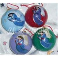 China Painting glass ball ornaments,hand painted glass xmas ball,inside hand painted glass Christmas balls on sale
